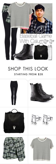 """""""Baseball Game with Calum"""" by lovatic92 ❤ liked on Polyvore featuring Topshop, H&M, Proenza Schouler, MaBelle, Faith Connexion, Chicnova Fashion, women's clothing, women, female and woman"""