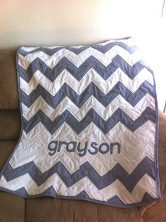 Baby Name Chevron (or Zig-Zag) Quilt
