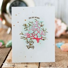 Seas The Day Card by Betsy Veldman for Papertrey Ink (June 2018)