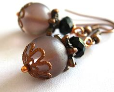 Pale rose earrings $8.50 Handmade jewelry