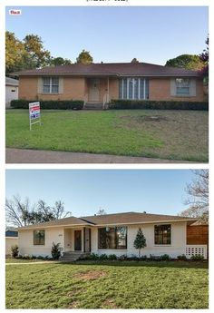 A ranch style home transformed by adding new windows for 70s house exterior makeover australia