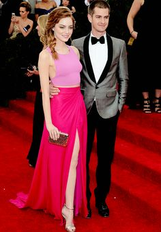 Emma Stone and Andrew Garfield at the 2014 Met Gala.