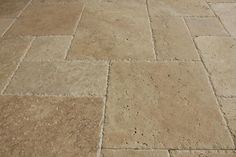 BuildDirect – Travertine Tile - Antique Pattern – Meandros Walnut Standard - Close View