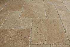 BuildDirect – Travertine Tile - Antique Pattern – Meandros Walnut Standard - Close View