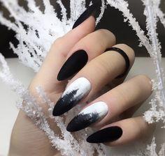 Winter Nail Art, Winter Nails, Nail Printer, Black Nails, Nail Inspo, Cosmetology, Long Nails, Pedi, Hair And Nails