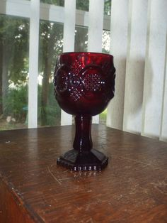 "Vintage Red Avon Cape Cod Cordial Fancy Glass 4.5"" Tall"