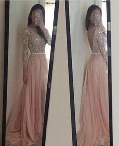 Look at this amazing prom dress . Prom Dresses With Long Sleeves Evening Party Dress pst0928 Clothing, Shoes & Jewelry : Women : dress for women http://amzn.to/2meoyF8