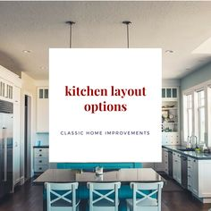 Most people have heard of an open concept kitchen - or a galley kitchen - but there are other layout options available to you!  Follow this board to see what those options are and start gathering some ideas for your new kitchen remodel!