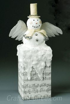 Up on the Chimney Snow Angel Craft by Rebekah Meier