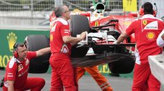 The car of Kimi Raikkonen (FIN) Ferrari SF16-H is recovered after stopping on track in FP2 at Formula One World Championship, Rd8, European Grand Prix, Practice, Baku City Circuit, Baku, Azerbaijan, Friday 17 June 2016. © Sutton Images
