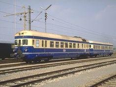 Der ÖBB Dieseltriebzug der BR 4046 mit Steuerwagen 6546 (1954)war ebenfalls an der Jubiläumsparade im September 1987 in Strasshof zugegen.(Archiv P.Walter)