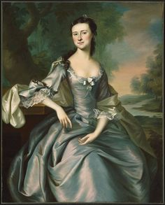♥Susan Apthorp, (Mrs Thomas Bulfinch) 1757, By Joseph Blackburn (English,but in the colonies from 1754-1763)