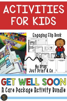 "This bundle of ""Get Well Soon"" activities for kids is guaranteed to bring a little sunshine to a student who may be under the weather, facing a surgery, or hospitalized. Click to see what other teachers have to say about this interactive, print-and-go, class made care package and never scramble again for a get well soon card when one of your students is sick!  #getwellsoon #getwellsoonactivitiesforkids"