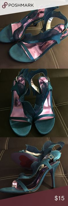 Teal Strappy Heals Never worn outside. Shoes Heels