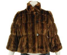 INC International Concepts Faux Fur Jacket Whiskey M INC International Concepts. $68.65