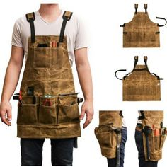 Hoasenda - Welcome my page Woodworking Apron, Woodworking Projects That Sell, Intarsia Woodworking, Woodworking Plans, Wood Shop Projects, Leather Projects, Tool Apron, Work Aprons, Leather Apron