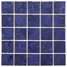 SomerTile 12x12-inch Paradise Marine Blue Porcelain Mosaic Floor and Wall Tile (Pack of 10) - 15927172 - Overstock.com Shopping - Big Discounts on Floor Tiles