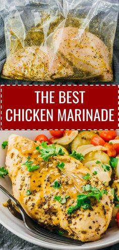 is the best chicken marinade recipe whether youre looking to marinate chicken for the grill or bbq crockpot or oven Its very easy quick and simple to make with Greek flav. Baked Chicken Marinade, Oven Chicken Recipes, Cooking Recipes, Healthy Recipes, Keto Chicken, Greek Marinade For Chicken, Italian Dressing Chicken Marinade, Mediterranean Chicken Marinade, Homemade Chicken Marinade