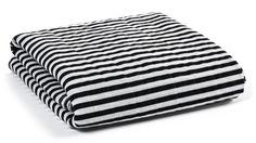 100% Organic Cotton Muslin Blanket in Black/White Stripes