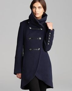With every season comes a new, refreshing batch of modern military-inspired pieces. This time around, designers like Jason Wu, Victoria Beckham, and Tommy Hilfiger amped up the chic factor on this utilitarian trend in their runways via tailored silhouettes and sleek finishes. Mackage Coat - Diana Military Wool on shopstyle.com