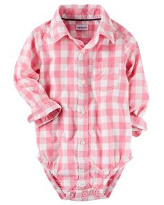 Baby Boy Checkered Button-Front Bodysuit | Carters.com