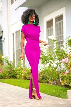 Style Pantry | Drape Maxi Dress w/Side Slit