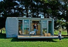 """Kiwi holiday home to go. We call the typical holiday home a """"batch""""..this one being a smaller mobile modern interpretation"""