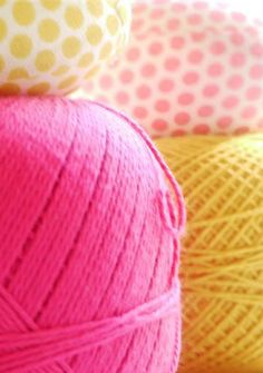 Cotton Candy Coloured Yarn (detail) by Heidi Isaksen-Loxton