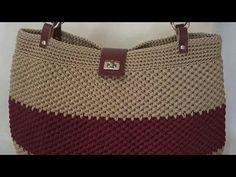 Tried this Pin? Crochet Bag Tutorials, Crochet Patterns For Beginners, Crochet Videos, Crochet Handbags, Crochet Purses, Crochet Shoes, Crochet Yarn, Crochet Basket Pattern, Diy Handbag