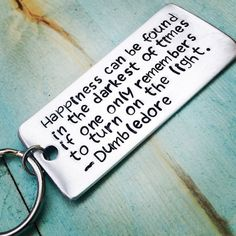 Hand Stamped Keychain Harry Potter Dumbledore Key Chain Metal Aluminum Gift…