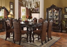 Alpena Traditional Dining Table Set  Products Gorgeous Traditional Dining Room Set 2018