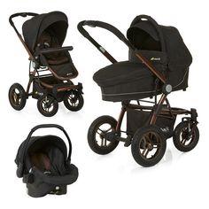 Kinderwagenset ab der Geburt - dank Luftbereifung auch für Wald- und Feldwege geeignet.