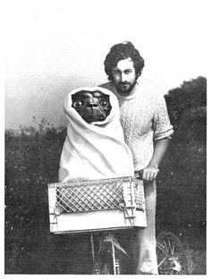 Steven Spielberg and E.T., 1982.
