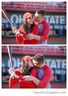 An Ohio State Baseball player and baseball inspired Columbus Engagement session at The Ohio State University by Pipers Photography Krista Piper Engagement Photos