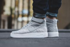 """Release Date and Where to buy Nike Air Force 1 Ultra Flyknit Mid """"Wolf Grey"""""""