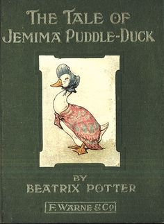 'The Tale of Jemima Puddle-Duck', 1908 -- Beatrix Potter. Composed at Hill Top Farm, Jemima Puddle-Duck was the first of her books set wholly at the farm, with background illustrations based on its buildings and yard and nearby locales. I Love Books, Good Books, My Books, Zootopia, Beatrix Potter Illustrations, Book Illustrations, Beatrix Potter Books, Beatrice Potter, Peter Rabbit And Friends