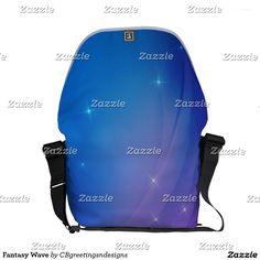 Fantasy Wave Courier Bag