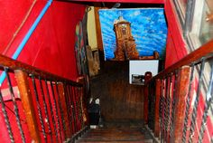 Valparaiso, Cafe Arte Mirador en el cerro Artilleria