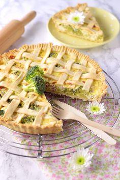Crostata salata broccoli prosciutto e ricotta- broccoli pie