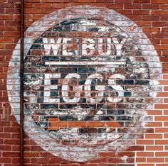 We Buy Eggs - Wall Sign in La Porte City, Iowa