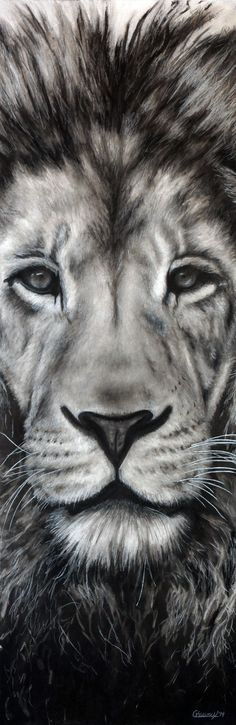 """Guardian"" by Nebraska artist Courtney Kenny Porto. Leo the Lion."