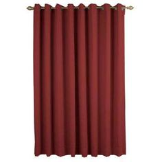 $100 Ultimate Blackout Polyester Patio Panel 112 in. W x 84 in. L Garnet