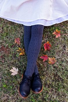 Oroblu Renee Cable-Knit Cotton Tights