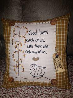 Primitive pillow, made by Cindys Primitives