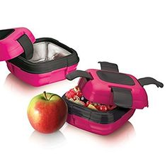 Lunch Box ~Pinnacle Insulated Leak Proof Lunch Box for Adults and Kids -Durable Thermal Lunch Container ~PINK