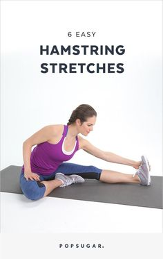 If youve been sitting all day whether at a desk or in a car or plane traveling these are the best stretches for tight legs and a sore lower back. Stretches For Tight Hamstrings, Stretches For Legs, Best Stretches, Hamstring Exercises For Women, Flexibility Exercises, Hamstring Workout, Leg Stretching, Fitness Exercises, Tabata