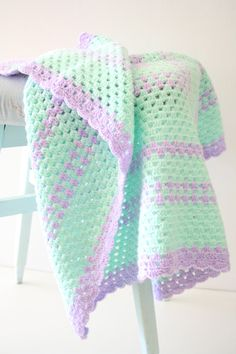 Newborn crochet Baby Blanket by babytogo on Etsy, $75.00