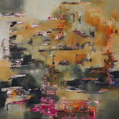 """""""Atravesando cristales"""" - Mónica Fernández - Oleo Sobre tela 100 x 100 cm  www.esencialismo.com"""