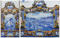 Douro River Valley, Portugal Tiles Just about a two hour drive from Porto, Portugal is the Duoro River valley. When my family and I were visiting Porto, we took a full day tour out to Duoro. We got to sample some amazing food, learn about the famous port wine, see beautiful views of the river valley and learn what it's like to live on one of the wine estates.  www.germanyja.com