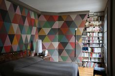 Patterned walls.